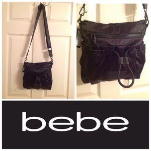Bebe Becca Black Nylon Crossbody
